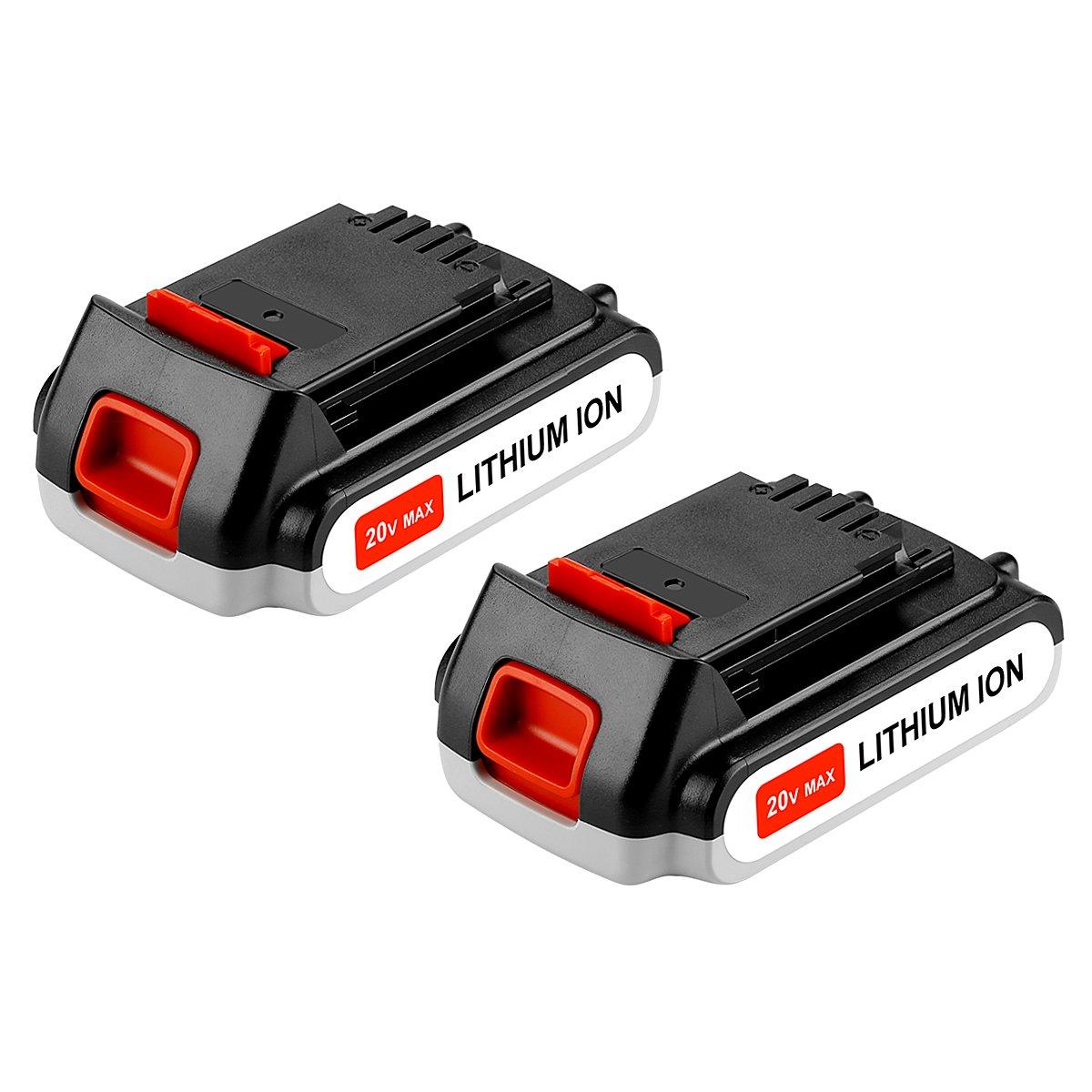 Powilling 2 Pack 20V 2.5Ah Lithium Battery for Black and Decker 20V MAX MATRIX LBXR20, LST220, LBXR20-OPE, LBXR2020, LBXR20, LB20, LBX20, 20 Volt Replacement Battery for Black+Decker Lithium
