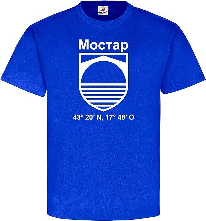 Mostar Bosnien Herzegowina Neretva Stadt Wappen Abzeichen Heimat T Shirt 19550 Amazon De Bekleidung