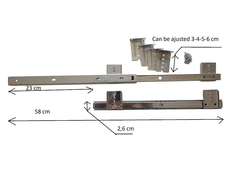 Runner Dif ripiano per tastiera regolabile sotto scrivania del computer scivola fissaggio scorrevole del cassetto