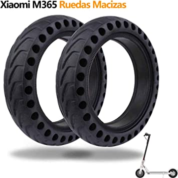 Ruedas Macizas Compatible con Xiaomi M365, Bangting 8 1/2 x 2 ...