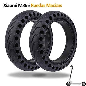 Ruedas Macizas Compatible con Xiaomi M365, Bangting 8 1/2 x 2 Neumatico Solido Panal Hole Tubos Sólidos Neumaticos de Repuesto Rueda Maciza Macizo ...