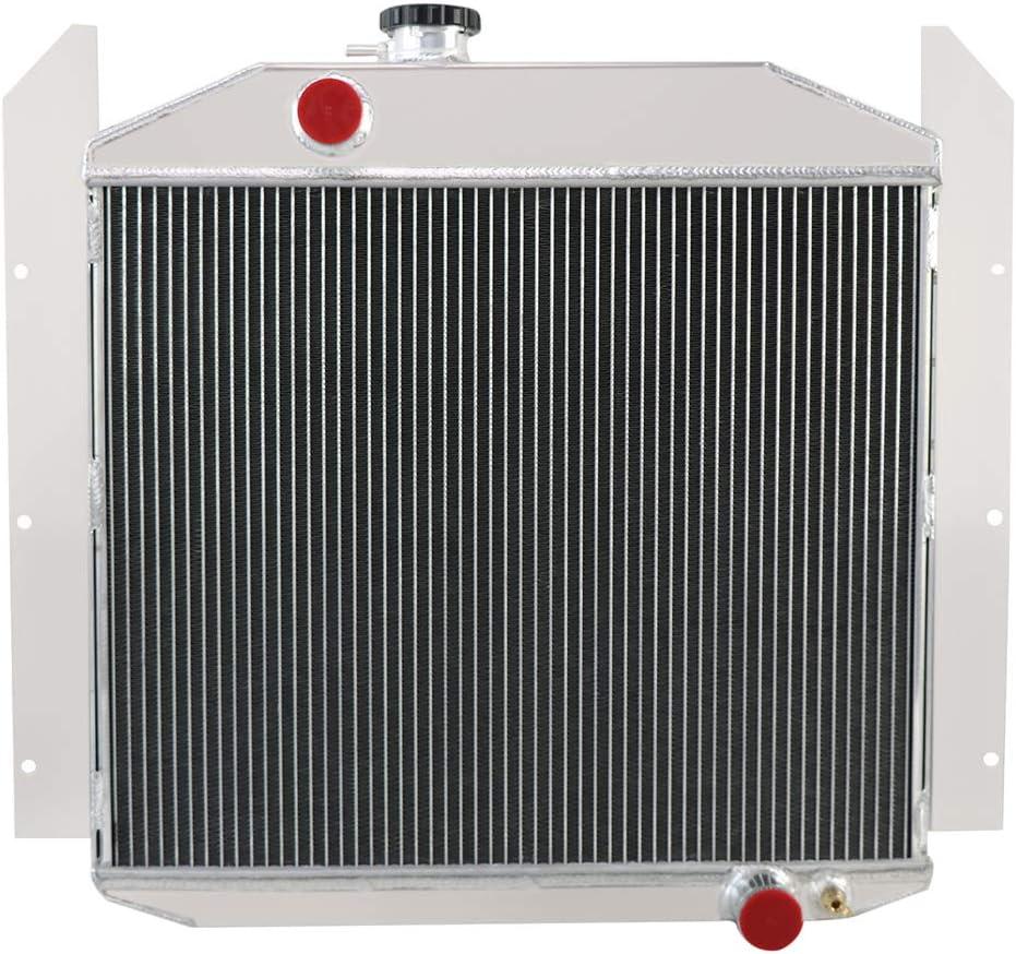 OzCoolingParts 3 Row Core Aluminum Radiator for 1949-1952 1950 1951 Studebaker Champion 2R6 2R5 2R10 2R11 Pickup Truck 4.0L 2.8L