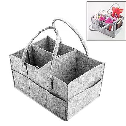 Bebé Bolsa de Pañales Caddy, pyhot Nursery multifunción bolsa de almacenamiento cesta plegable de basura