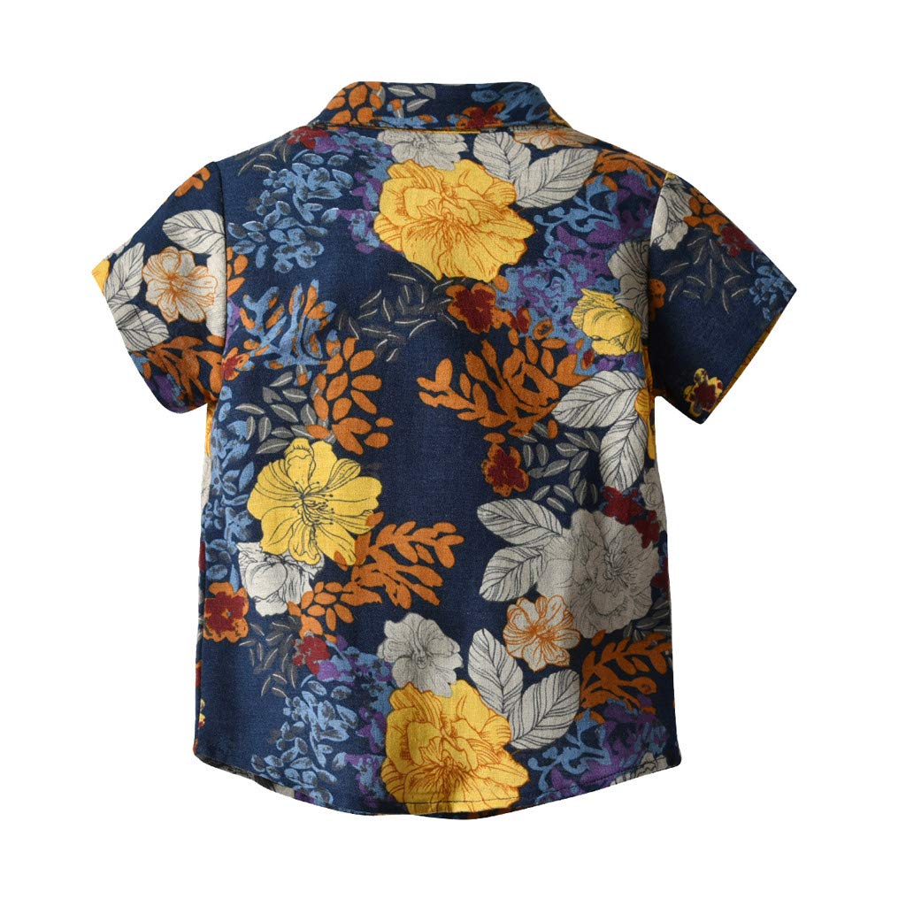 Fabal Children Gentleman Geometric Printed T-Shirt Tops Clothes Baby Boys T-Shirts Casual Clothes