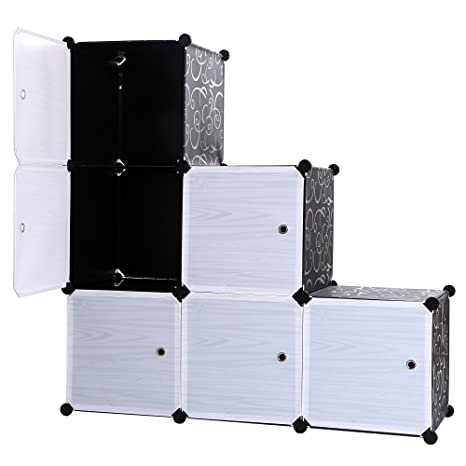 Charmant 3 Tier Storage Cabinets Cube Bookcase Closet Organizer Shelf 6 Cube DIY  Cabinet With