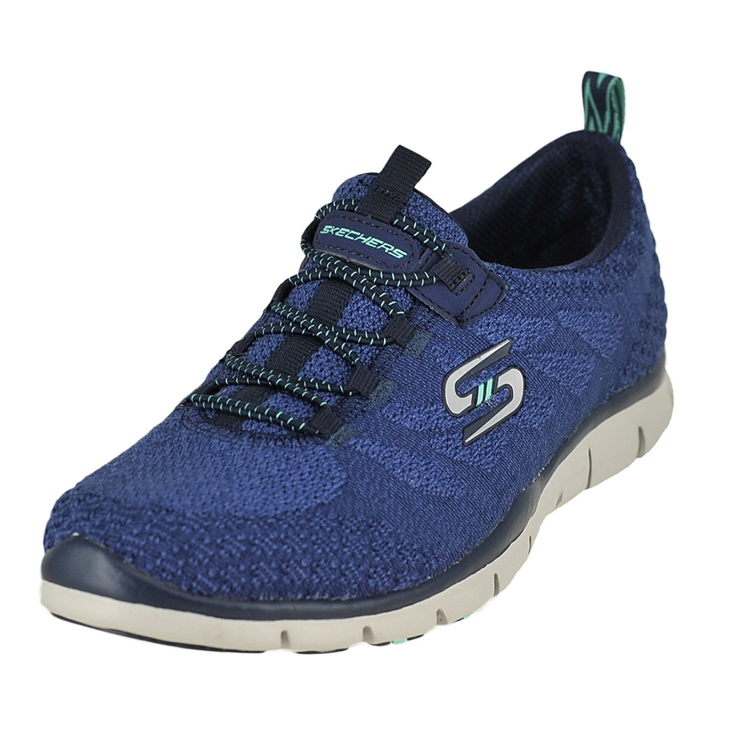 Skechers Gratis-Sleek & Chic Navy Womens Fashion Sneaker Size 7.5M