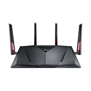 ASUS RT-AC88U Wireless-AC3100 Dual Band Gigabit Router, AiProtection