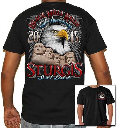 BIKER LIFE USA - Camiseta para hombre 2015 Sturgis Black Hills Rally Eagle Rushmore: Amazon.es: Ropa y accesorios