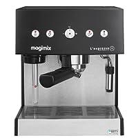 Magimix Expresso Automatic Máquina espresso 1.8L Negro, Acero inoxidable - Cafetera (Máquina espresso, 1,8 L, De café molido, 1260 W, Negro, Acero inoxidable)