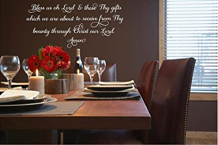amazon com bless us oh lord and these thy gifts meal prayer vinyl