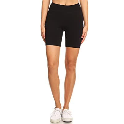 2ND DATE Women's Basic Cotton Shorts Leggings with Wideband at Women's Clothing store