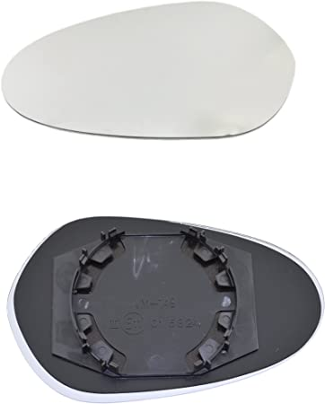 Vetro Specchio Destra FIAT Punto dal 1999 con piastra di supporto
