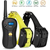 FOCUSPET Dog Training Collar, Waterproof & Rechargeable Electric 655 yd Remote Dog Shock Collar 16 Levels Tone,Vibration & Shock for Small medium & Large Dogs