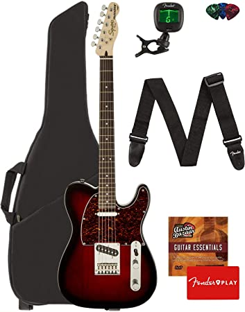 Amazon com: Fender Squier Standard Telecaster Guitar