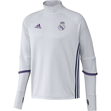 adidas 2016-2017 Real Madrid Training Top (White): Amazon.es: Deportes y aire libre