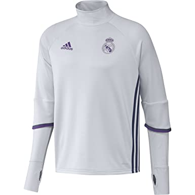 b9ebf96331c4 adidas Mens Gents Football Soccer Real Madrid Long Sleeve Training ...