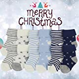 Baby Boy's Girl's Soft Cotton Knit socks, YULI Navy