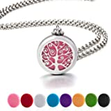 BESTTERN Multifunctional Aromatherapy Essential Oil Diffuser Necklace & Locket Bracelet With 316L Stainless Steel Tassel Pendant + 8Pads