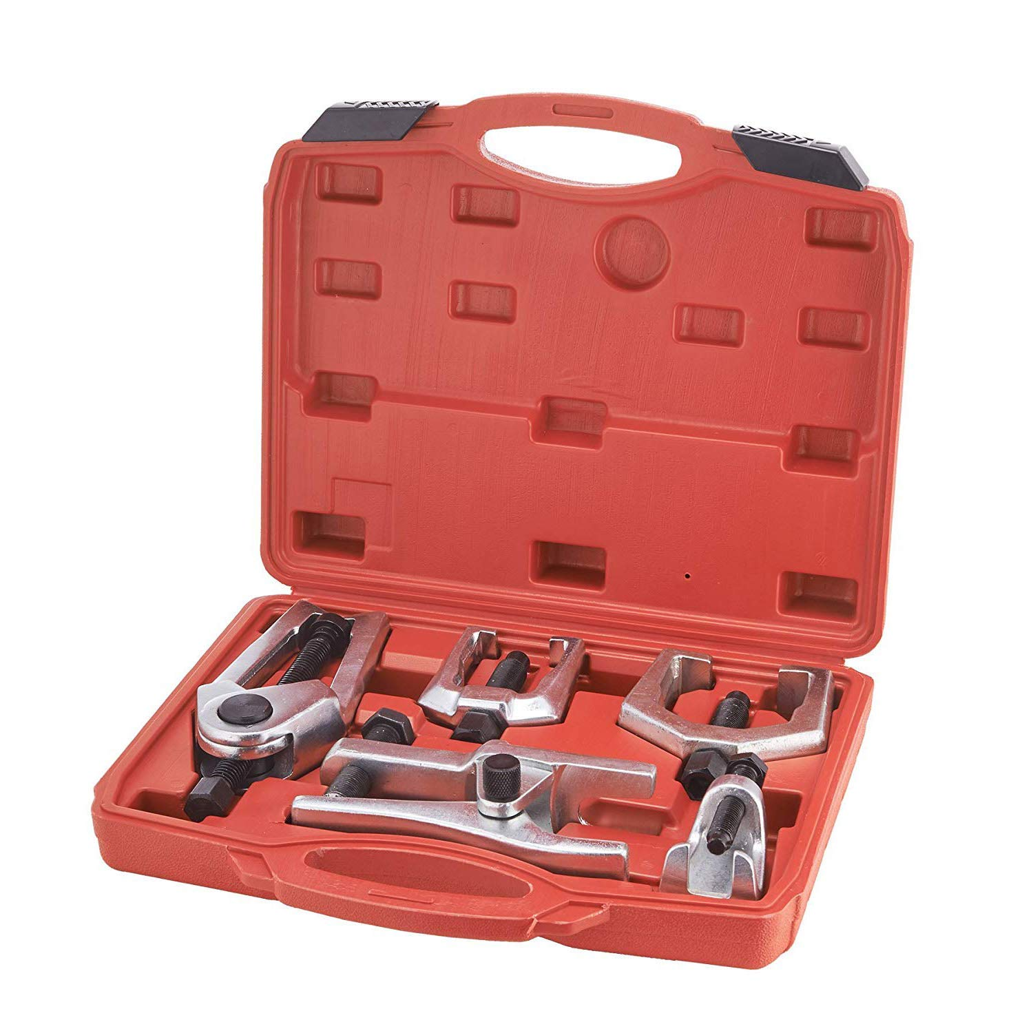 E-cowlboy Front End Service Tool Kit Pitman Arm Puller Ball Joint Separator Tie Rod Remover Tool 5pcs