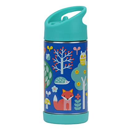 Petit Collage Woodland Botella de Agua | 350 ML | Acero Inoxidable de Doble Pared |