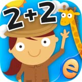 Animal Math Games for Kids with Skills Free: The Best Pre-K, Kindergarten and 1st Grade Numbers, Counting, Addition and Subtraction Activity Games for Boys and Girls