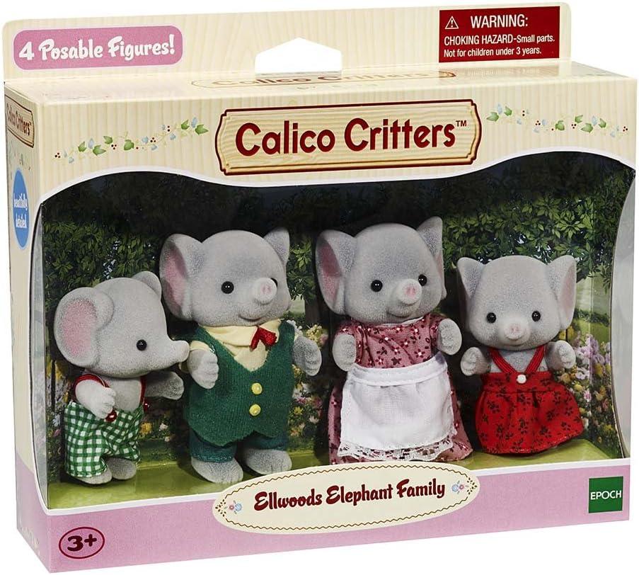 Calico Critters ELLWOODS ELEPHANT FAMILY CC1570 Sylvanian Families