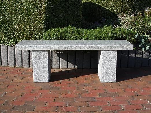 piedra natural Banco Jardín Banco de piedra Granito Asiento banco de granito Muebles de Jardín Rhodos: Amazon.es: Jardín