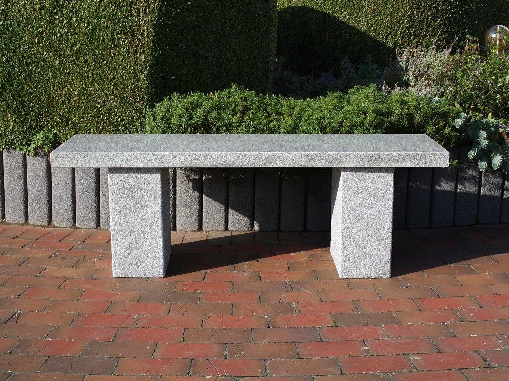 natursteinbank gartenbank steinbank granit sitzbank granitbank gartenm bel rhodos g nstig online. Black Bedroom Furniture Sets. Home Design Ideas