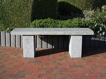 piedra natural Banco Jardín Banco de piedra Granito Asiento banco de granito Muebles de Jardín Rhodos