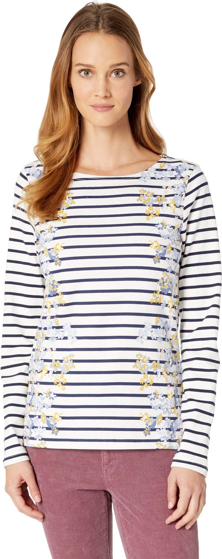 Joules Women's Harbour Printed Jersey Top Maisy Ditsy Stripe 2
