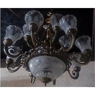 R@DIANT Antique Design Glass Chandelier - Black, Large Chandeliers at amazon