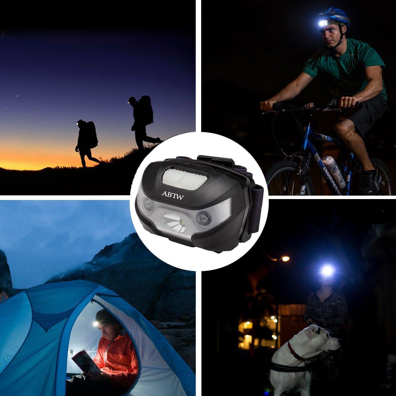 LED Stirnlampe / Kopflampe, Stirnlampe USB wiederaufladbar, 5 ...