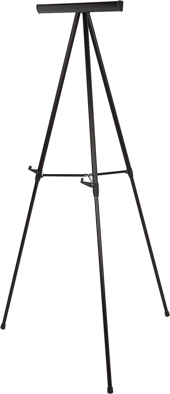 AmazonBasics Heavy Duty Presentation Display Stand Easel, Adjustable Height Telescope Tripod