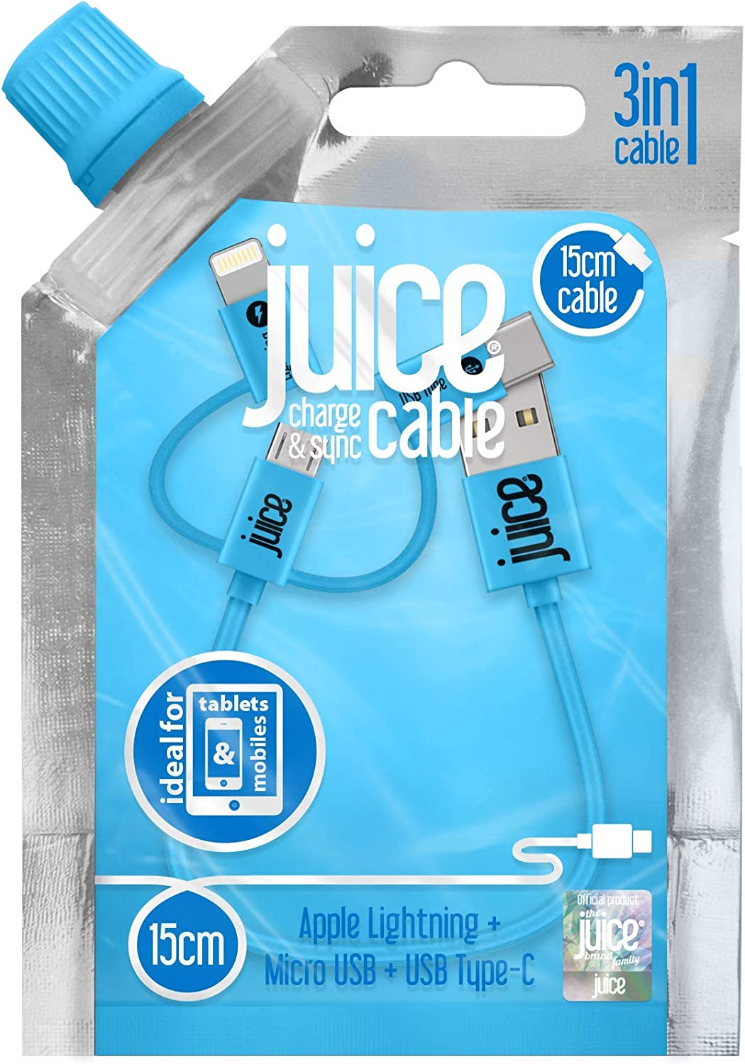 Juice 3 In 1 Charge & Sync Cable, Apple