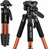 Mactrem PT55 Travel Camera Tripod Lightweight Aluminum for DSLR SLR Canon Nikon Sony Olympus DV with Carry Bag -11 lbs…