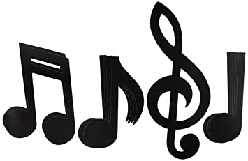 Amazon musical note silhouettes 12 21 12 count musical note silhouettes 12quot 21quot voltagebd Gallery