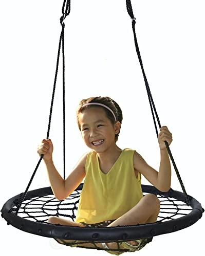 PLAYBERG Round Net Tree Swing with Hanging Ropes
