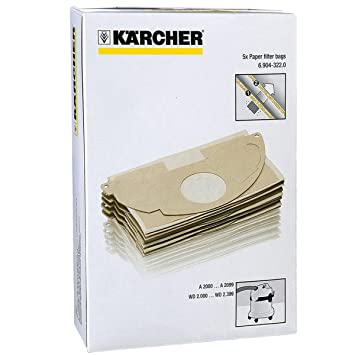 Karcher MV2 WD2 aspiradora fuerte doble capa bolsas de polvo ...