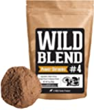 Wild Blend #4 Superfood Powder Mix Blend With Reishi, Chaga and Cordyceps Extract Mushrooms for Smoothies, Shakes, Coffee - Nootropic Mental Performance (#4 Power Shrooms - 8oz)