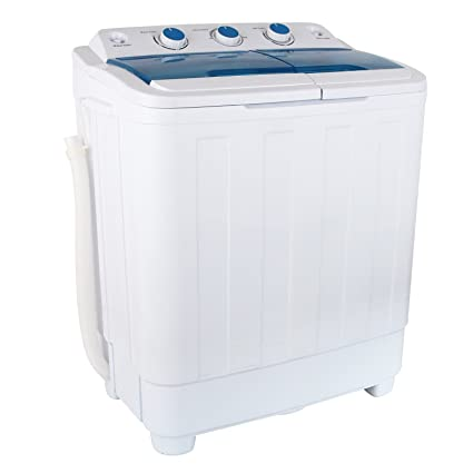Amazon.com: KUPPET 17Ibs Portable Washing Machine, Compact Twin Tub ...