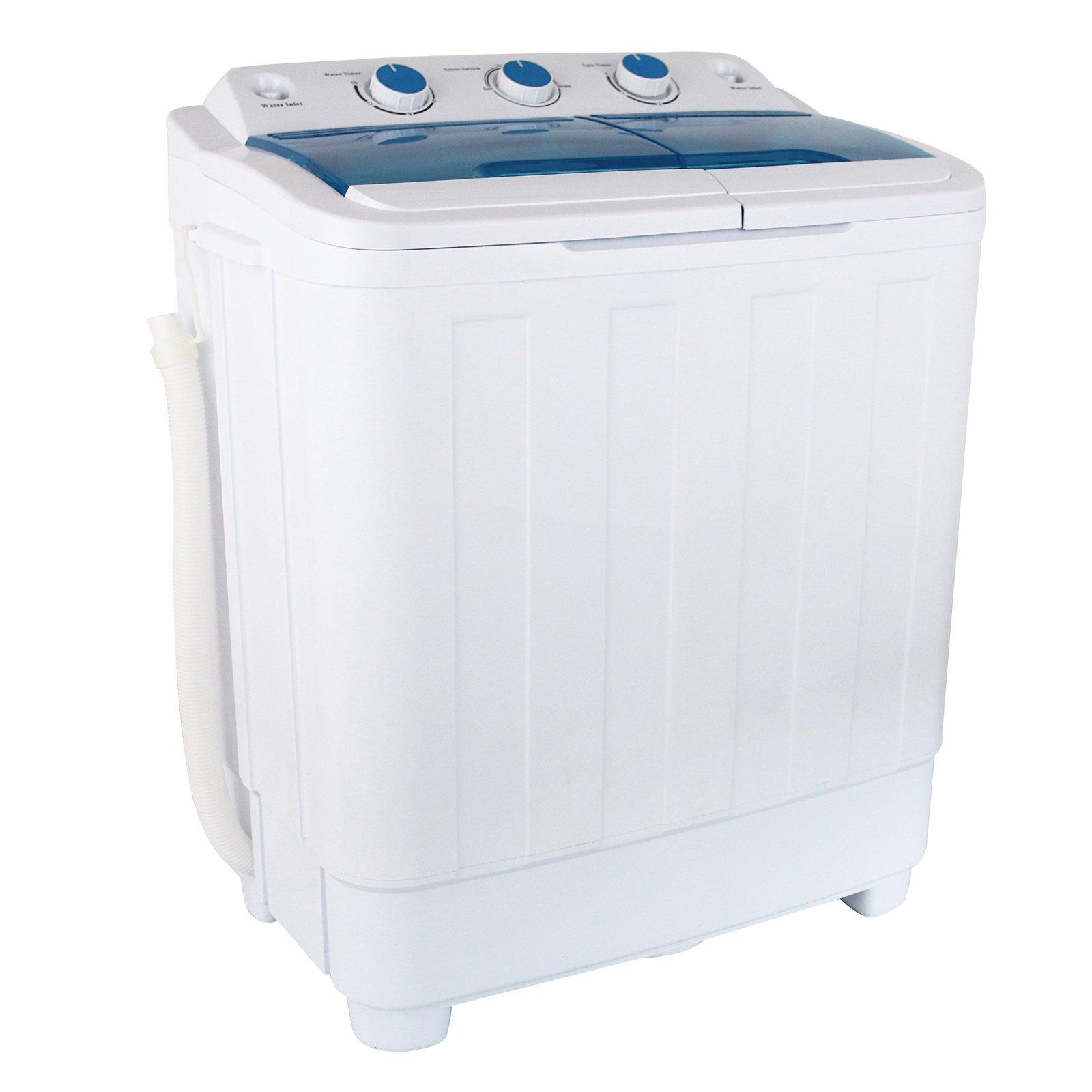 KUPPET Portable Mini Compact Twin Tub Washing Machine Washer Spin Dryer 17Ibs Capacity