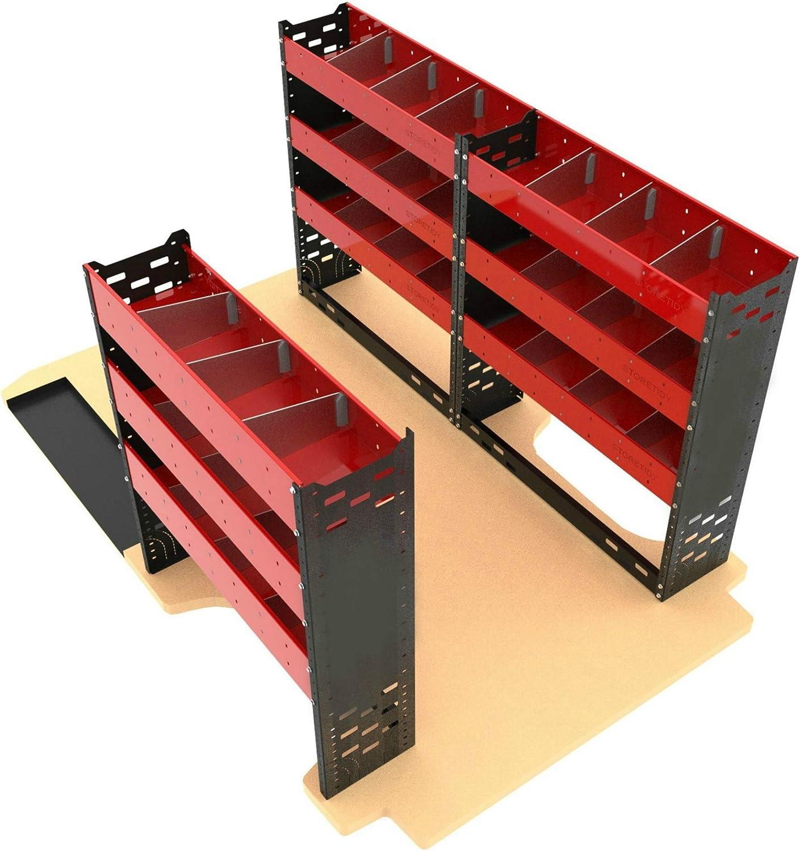 Autorack Products Sistema de estantería de Acero Resistente para Furgonetas, Paquete Ideal para la mayoría de Las Furgonetas – Probado EU-ECE-R17: Amazon.es: Coche y moto