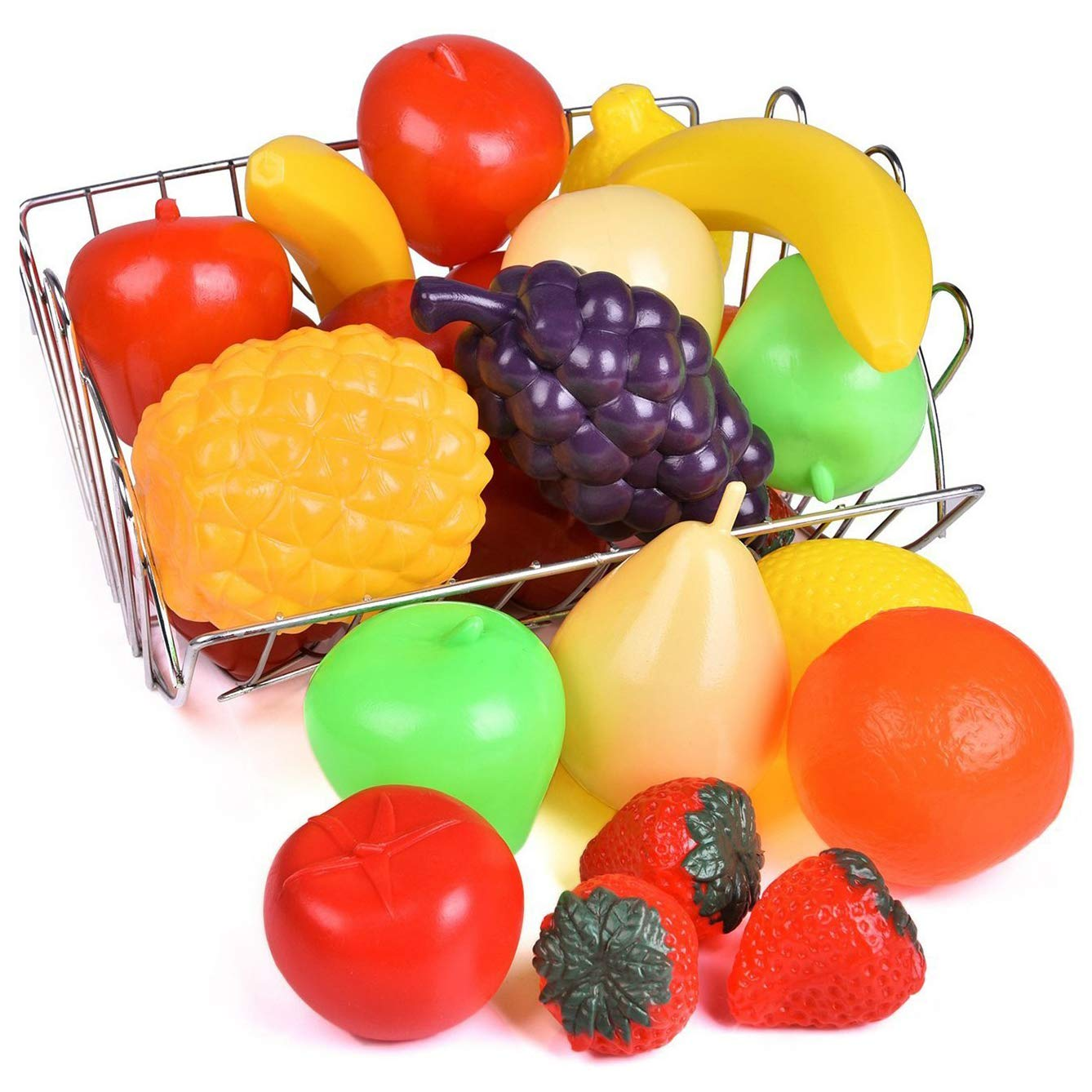 Liberty Imports Life Sized Bag of Fruits Play Food Playset for Kids