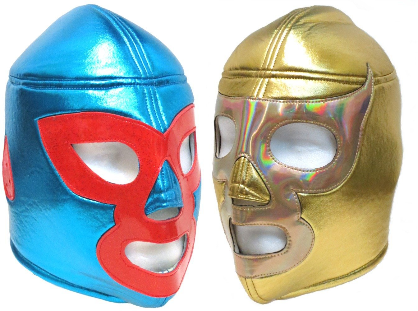 Nacho Libre and Ramses Adult Lucha Libre Wrestling Mask Combo