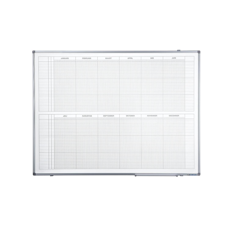 Smit Visual Jahresplaner - BxH 1200 x 900 mm, Version NL, mit 365-Tage-Einteilung - Tagesplaner Wochenplaner Jahresplaner Präsentationstafeln Monatsplaner Planer