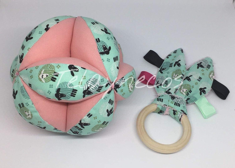 Pelota Montessori y anilla sensorial ovejas rosa: Amazon.es: Handmade