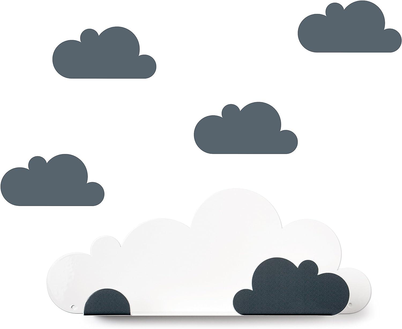 Tresxics Estantería Nubes, Metal, Gris, 37x24x7 cm: Amazon.es ...