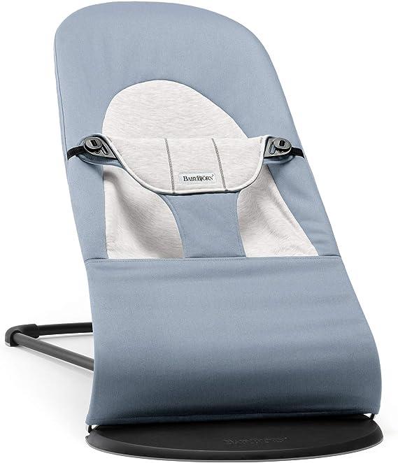 BabyBjörn Sdraietta Balance Soft, Cotton/Jersey, Blu/Grigio - 2250 g
