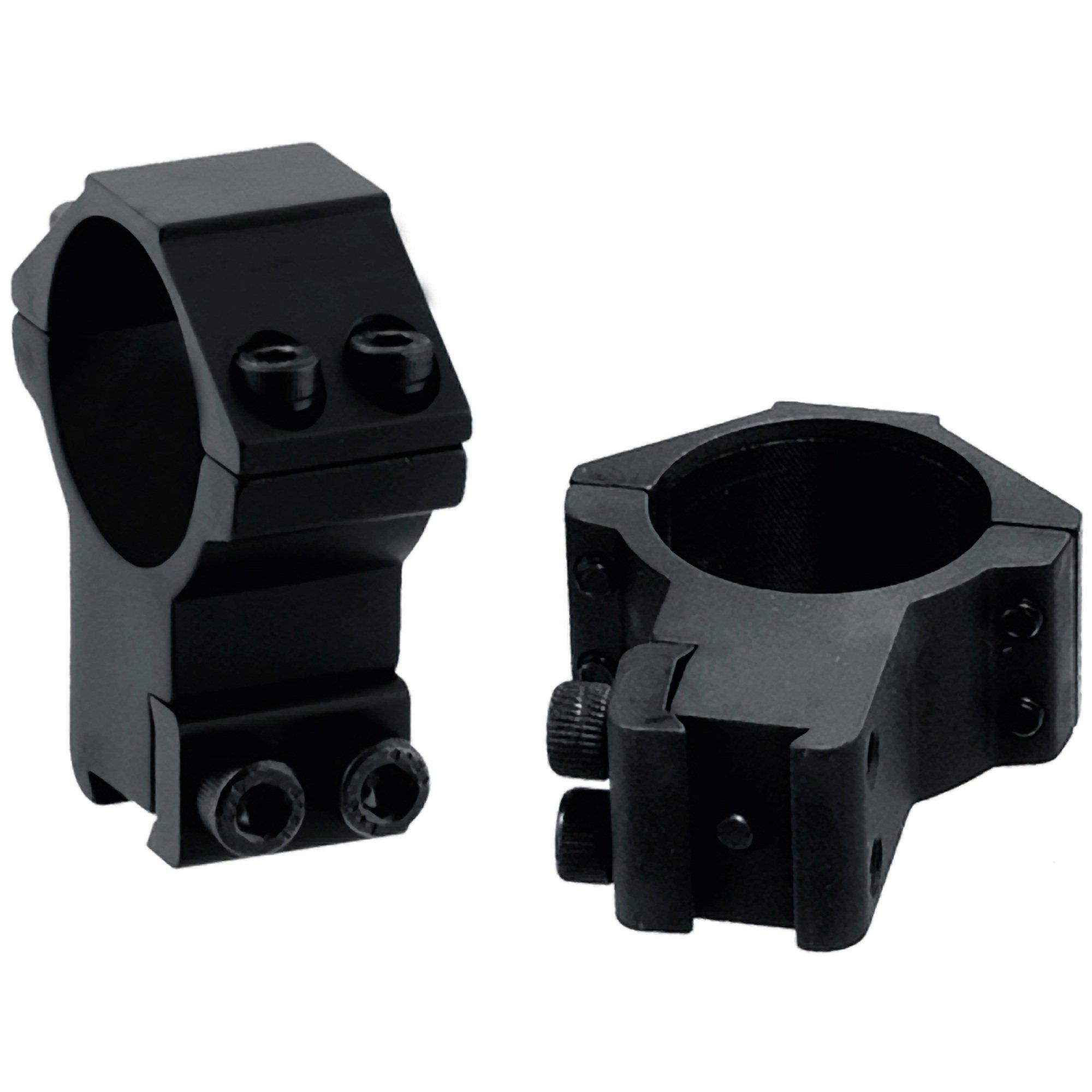 Anillos de pistola de aire de alto perfil UTG de 30 mm / 2 piezas con pasador de parada