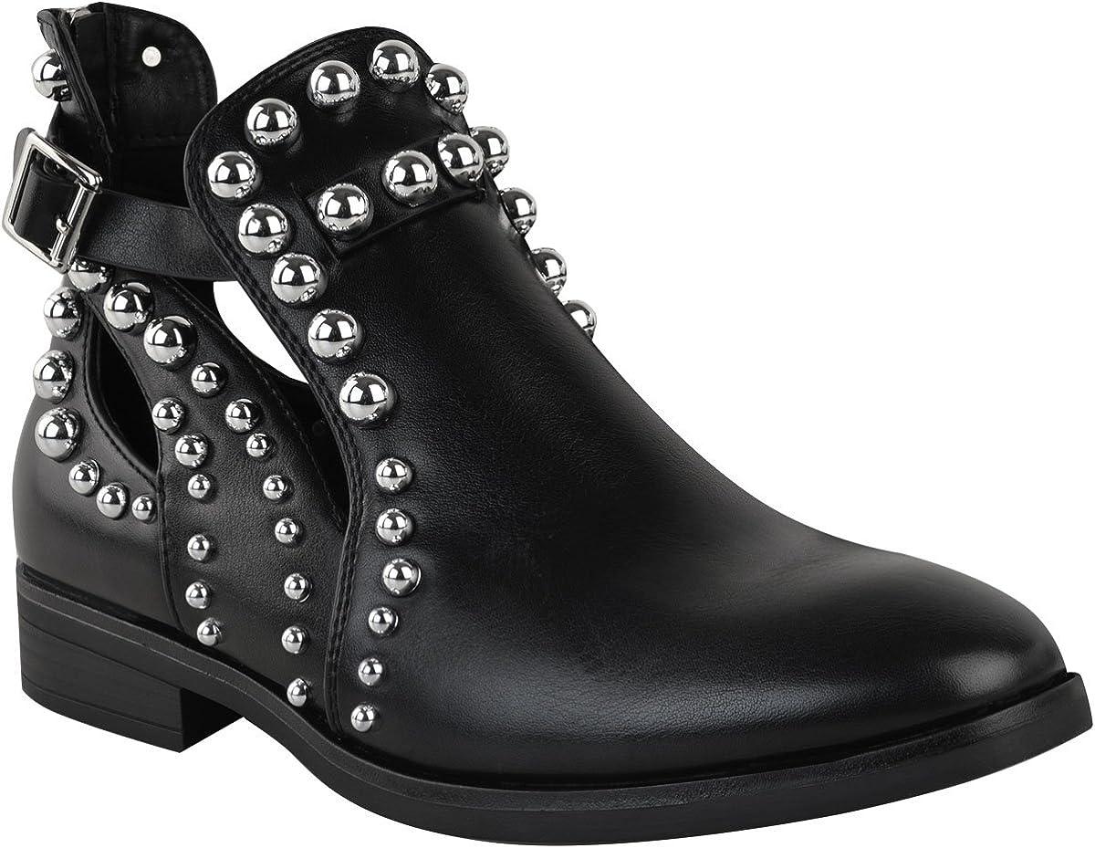 Womens Ladies Stud Zip Platform Chunky Block Heel Chelsea Ankle Boots Shoes Size